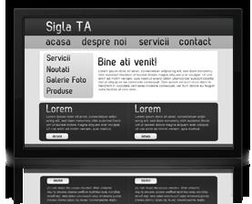 Pachet webdesign dinamic, creare site dinamic